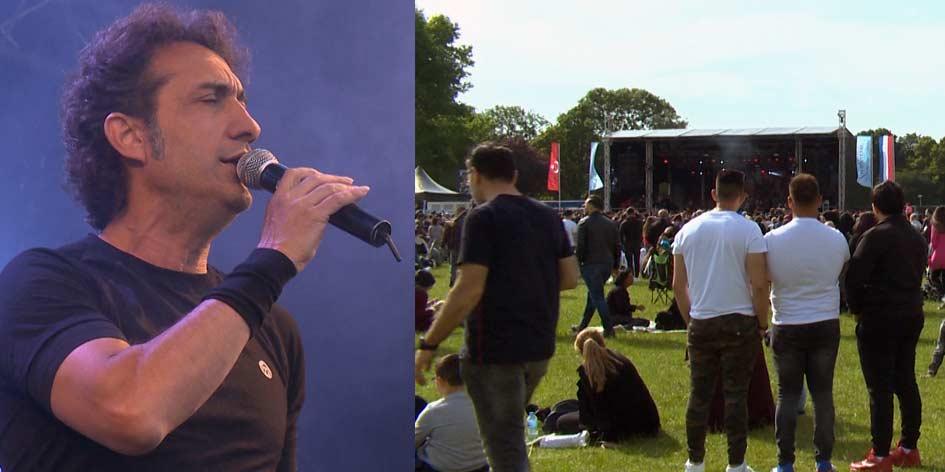 Turkse Kirac treedt op voor duizenden publiek in het Zuiderpark in Den Haag
